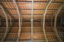 Wooden Roof From Above Un A Castle