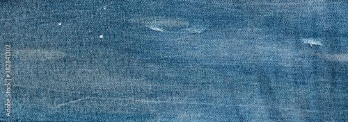 Canvas Print texture of blue jeans denim fabric background