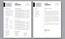 Clean Resume Template Illustra...