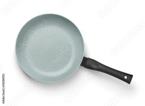Fototapeta Top view of ceramic coated non stick fry pan