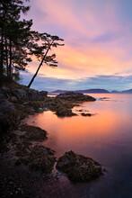 Peaceful And Colorful Sunset O...