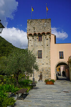 Medieval Tower In Zuccarello, ...