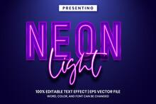 Neon Light Sign Text Effect