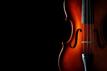 Violin On A Black Background. ...