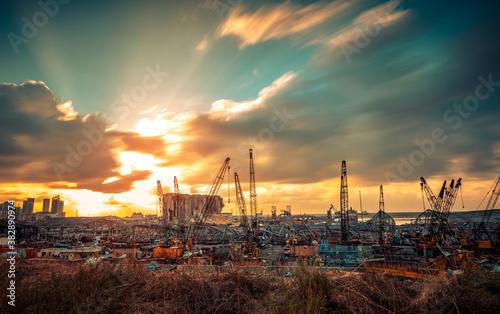 Fotografering Rebuilding Beirut