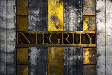Integrity Text Formed With Rea...