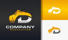 Excavator Letter D Logo