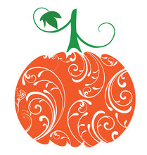 Vector Pumpkin With Swirls