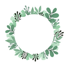 Decorative Frame From Leaves. ...