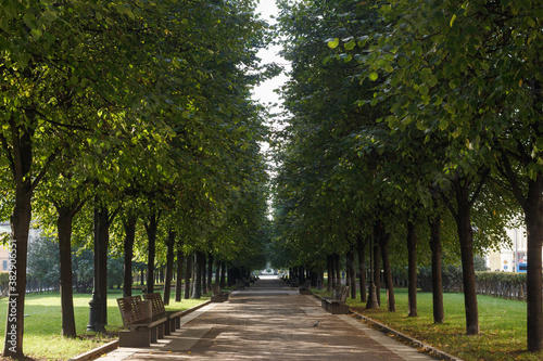Photo Tsvetnoy Boulevard in Moscow, Russia. Trees