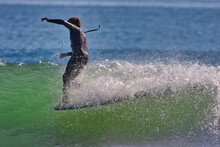 Surfing The Cove At Rincon Poi...