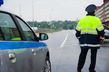 Traffic Cop On The Road