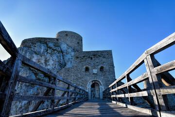 Srebrenik, Bosnia and Herzegovina - 10 04 2020 : Photography of oldest Bosnian castle in Srebrenik