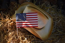 American Flag And Cowboy Hat