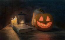 Pumpkin, Candlestick, Candles ...