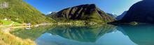 Panorama Of Mountains Reflecti...