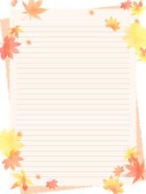 秋の落ち葉のイラスト...