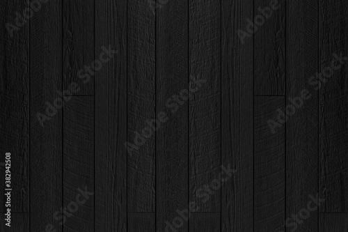 Fototapeta Wood plank black timber texture and seamless background obraz na płótnie