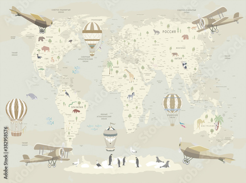 mapa-dziecieca-tapetowa-mapa-swiata-dla-dz
