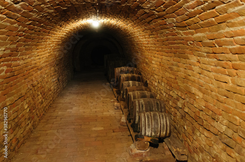 Fotomural wine cellar in austria