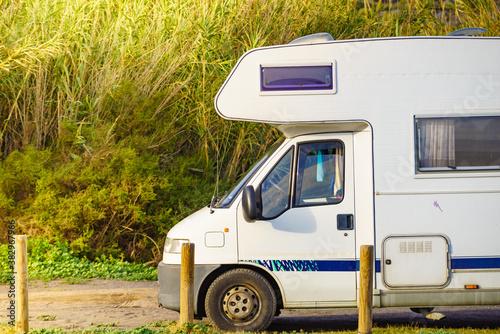 Camper rv camping on nature, Spain Fototapet