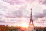 Fototapeta Fototapety z wieżą Eiffla - Eiffel Tower from Champ de Mars, Paris, France.