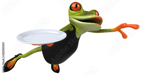 Fotografia, Obraz Fun frog - 3D Illustration