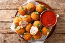 Hot Fried Sauerkraut Balls Wit...