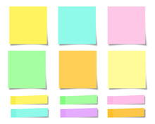Set Of Colorful Sticky Notes O...