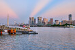 Sunset on the Pearl River, Guangzhou, China