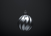 Silver Twisted Striped Christm...