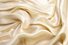 Ivory Silk  Fabric Abstract Background.