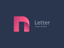 Letter N Logo Icon Design Temp...