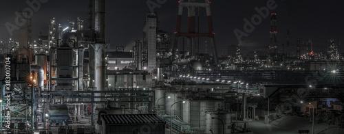 Fotografie, Obraz factory at night