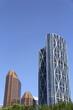 CALGARY-ALBERT, CANADA - Jul 24, 2012: Financial buildings in the city of Calgary in Alberta Canada