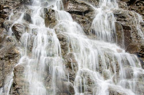 Fotografie, Tablou Beautiful cascades of Capra waterfall in the Fagaras mountains in Romania