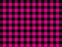 Seamless Vector Gingham Pink Check Pattern