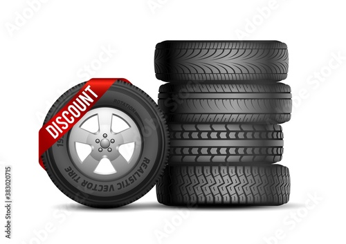 Tires discount Fototapet