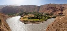 Panj River Pamir Mountain Taji...