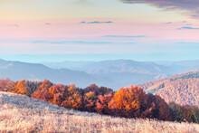 Picturesque Autumn Mountains W...