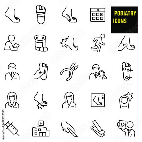 Fotografía Podiatry Thin Line Icons - stock illustration