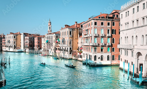 Traditional architecture on Grand Canal in Venice, Italy. Canvas Print