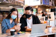 Asian Couple Take Off Mask Pro...