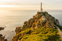 Ferrol, Spain. The Lighthouse At Cabo Prior In Galicia