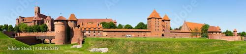 Obraz Panoramic view of Castle of Teutonic Order in Malbork, Poland . - fototapety do salonu