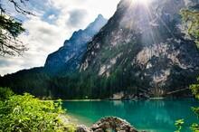 Lake Braies In The Heart Of Va...