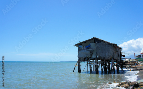 Traditional fishermen's house in the Philippines Fototapet