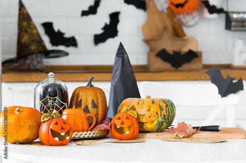Photo Happy Halloween! Pumpkin Jack on the table