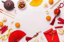 Chinese New Year Background With Traditional Decorations