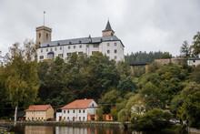 Medieval Castle Rozmberk Nad Vltavou, South Bohemia, Czech Republic
